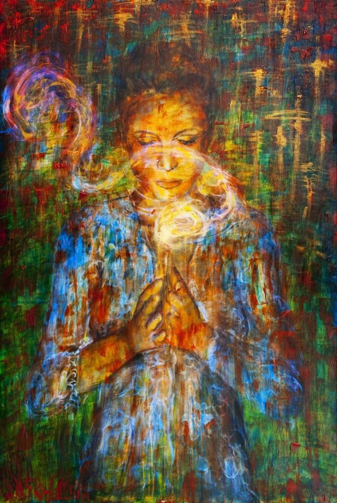 Vision quest woman as healer - Meditation art wallpaper ...