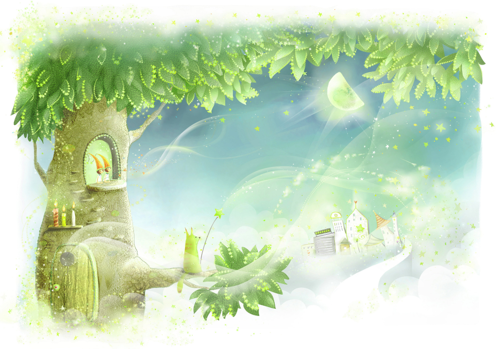 baby-wallpaper-fairy-tree-thunder-door-candles-crown-animal-fishing-pole-the-moon-houses-1