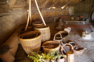 Wise woman wortcunners find baskets aplenty to be useful for gathering wildcrafted herbs for making herbal remedies.